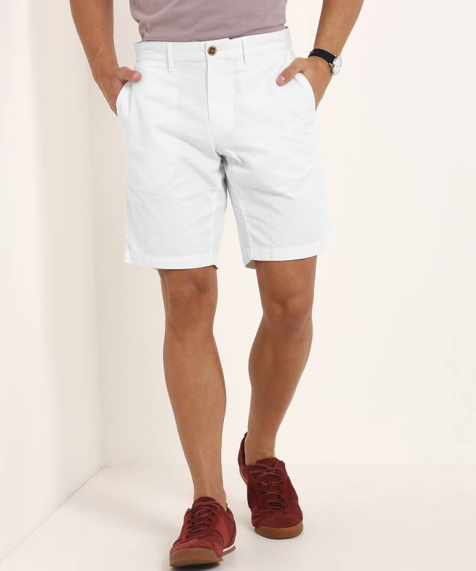 1aaf0c40b6b Tommy Hilfiger Solid Men's White Basic Shorts - Buy Tommy Hilfiger ...