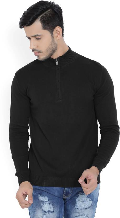 71e28427b1 Pepe Jeans Solid High Neck Casual Men s Black Sweater - Buy BLACK Pepe Jeans  Solid High Neck Casual Men s Black Sweater Online at Best Prices in India  ...