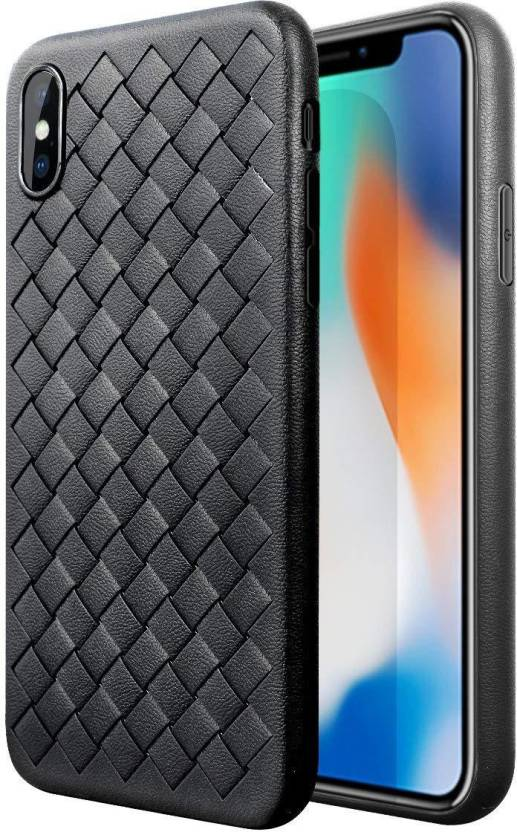 0fda835f3db5ba DORRON Back Cover for Apple iPhone X / 10 Anti Scratch Ultra Thin Weaving  Grid Silicone Soft Case Cover For Men (Black, Shock Proof, Flexible Case)