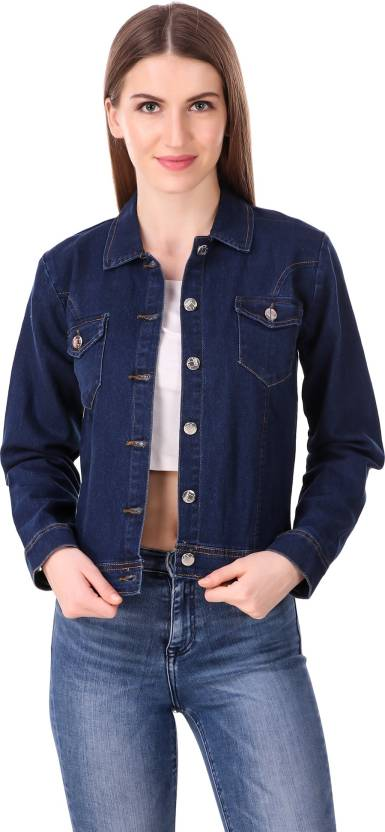 5d64a0b9d3 Girls Shopping Full Sleeve Solid Women Denim Jacket - Buy Girls ...