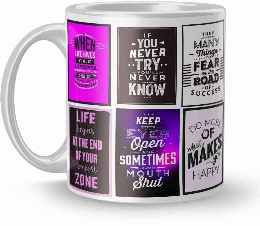 Earnam Office Quotes Gift 320ml Multicolor 1726 Ceramic Mug Price
