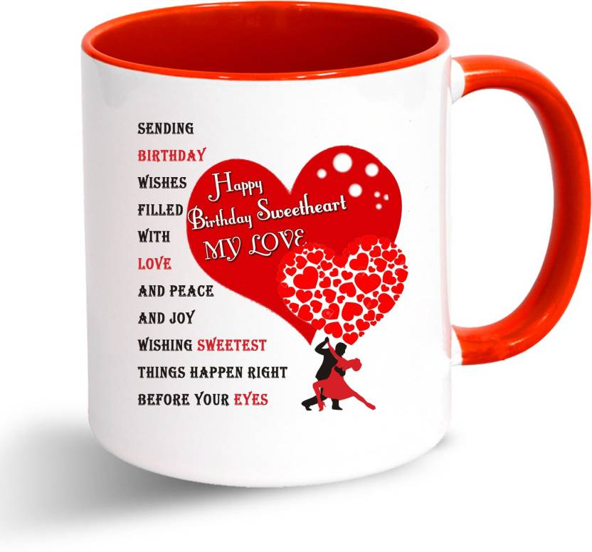 Oddclick Happy Birthday Sweetheart My Love Ceramic Mug Price In