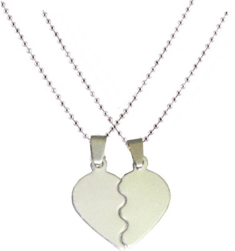 Men Style Couple Heart Love Alloy Pendant Set Price In India Buy