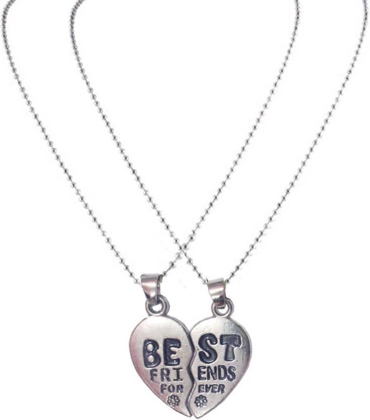 b6ca52b931dc7 Men Style Fashion Best Friend Forever Friendship Broken Heart-Shaped  Necklaces 2 Parts Necklace for Best Friends Gift Zinc Pendant