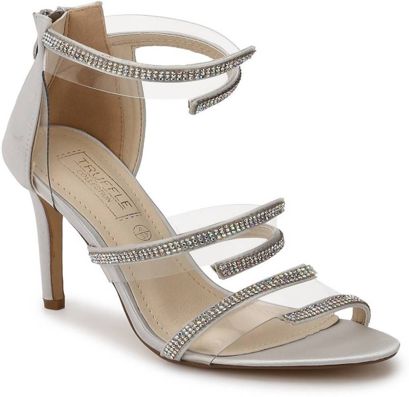 490ae1dcec5 Truffle Collection Women Silver Heels - Buy Truffle Collection Women ...