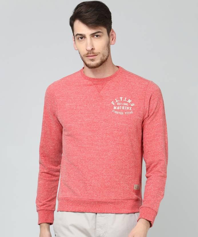 e6a4e9cba1374 Flying Machine Full Sleeve Solid Men Sweatshirt - Buy Deep sea coral Flying  Machine Full Sleeve Solid Men Sweatshirt Online at Best Prices in India ...