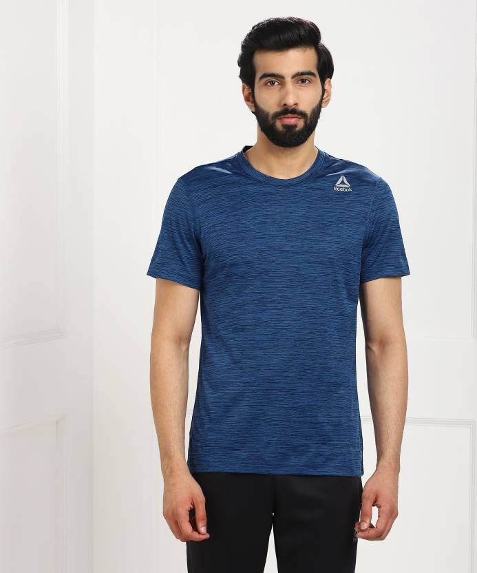 c7a69723ab4 REEBOK Sports Men Round Neck Blue T-Shirt - Buy REEBOK Sports Men Round  Neck Blue T-Shirt Online at Best Prices in India | Flipkart.com