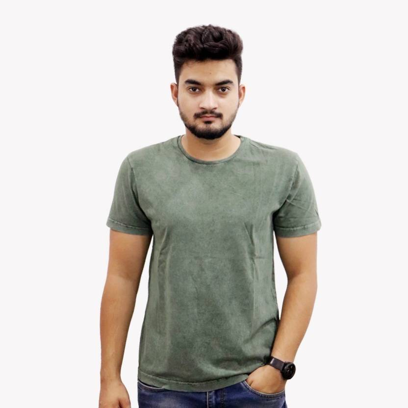 3d97e39a the Chambal Solid Men Round Neck Green T-Shirt - Buy the Chambal ...