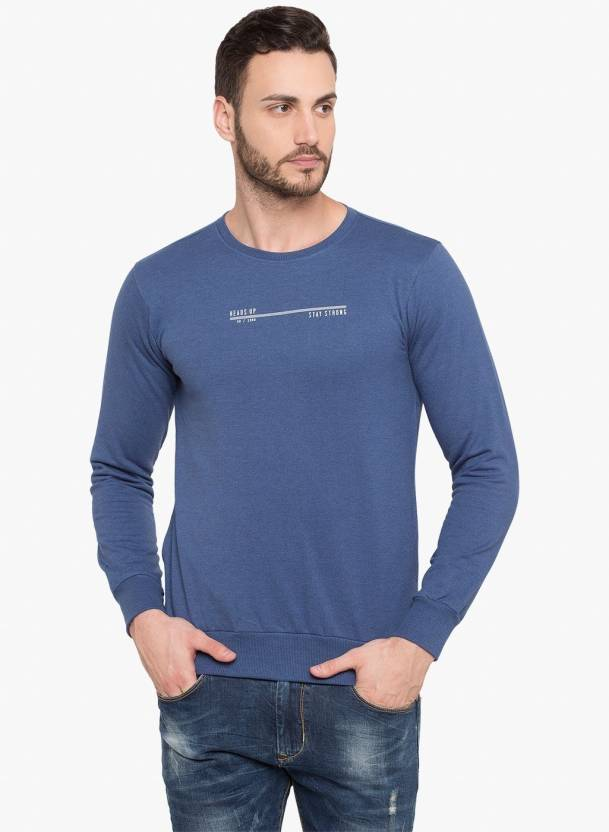 2a396f55a1f6 Status Quo Solid Men Round Neck Blue T-Shirt - Buy Status Quo Solid Men  Round Neck Blue T-Shirt Online at Best Prices in India | Flipkart.com