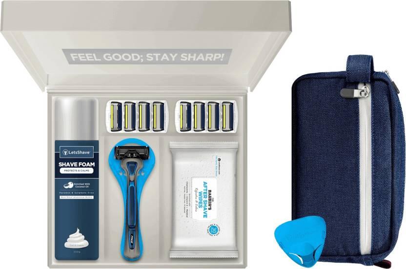 LetsShave Pace 6 Pro Premium Shaving Kit Gift Set for Men + Travel Bag  Travel Shaving Kit   Bag (Multicolor) 5ae7aab1d463d