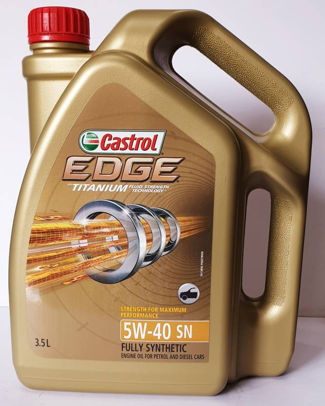 Splinternye Castrol Edge 5W40 3.5l Synthetic Motor Oil Price in India - Buy YB-71
