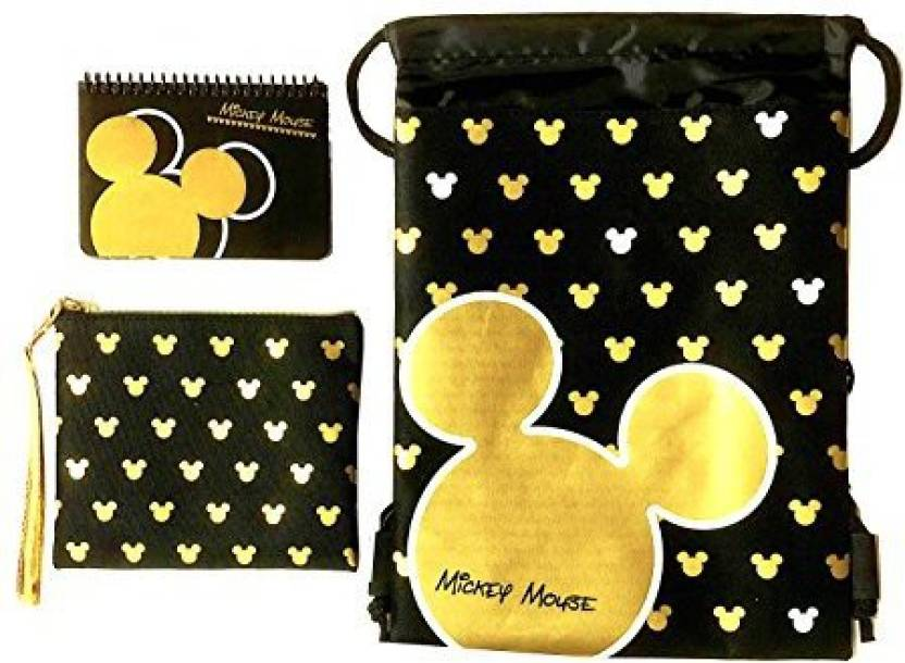45effae3f52 Emerald Disney Mickey Mouse Glow in the Dark Drawstring Backpack Plus  Autograph Book with Purse - Set of 3 Gold (Big Head) - Disney Mickey Mouse  Glow in the ...