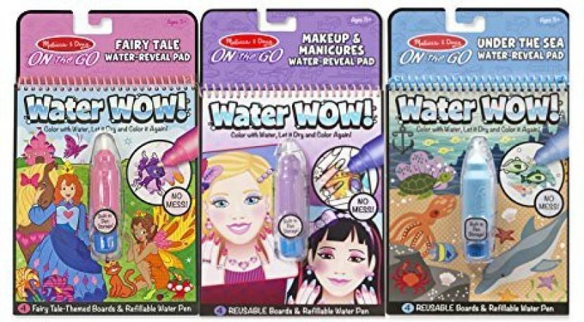 Melissa Doug On The Go Water Wow Bundle Fairy Tale Makeup