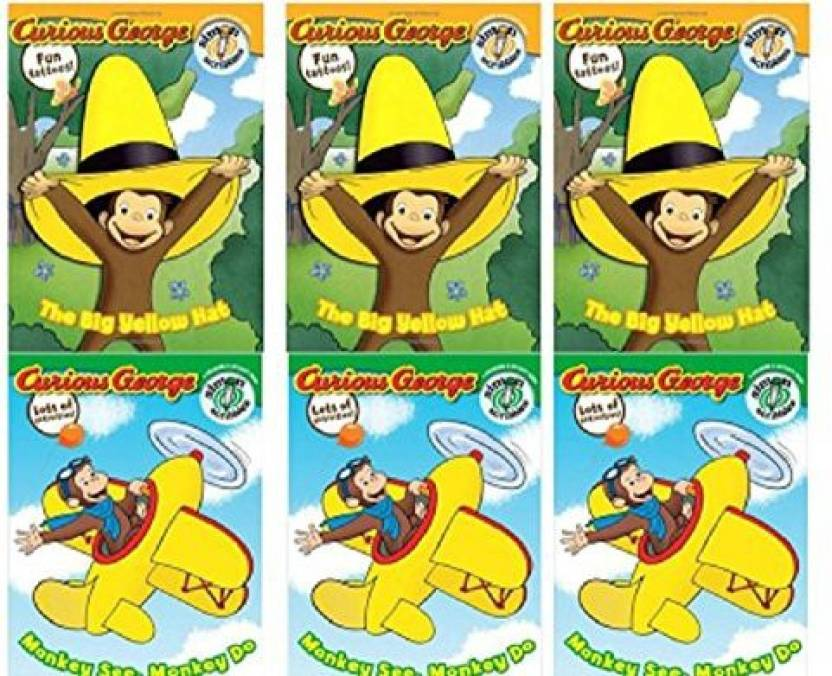 Genrc Elsies Fun Stuff Curious George 3 Big Yellow Hat 3 Monkey See
