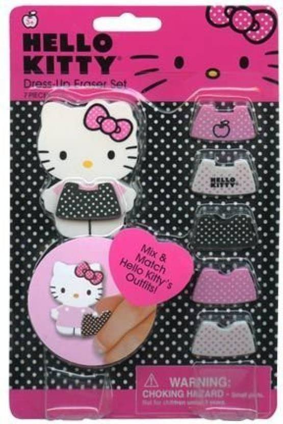 a47269b94 Sanrio Hello Kitty Dress Up Eraser On Gift Card Set Special Edition