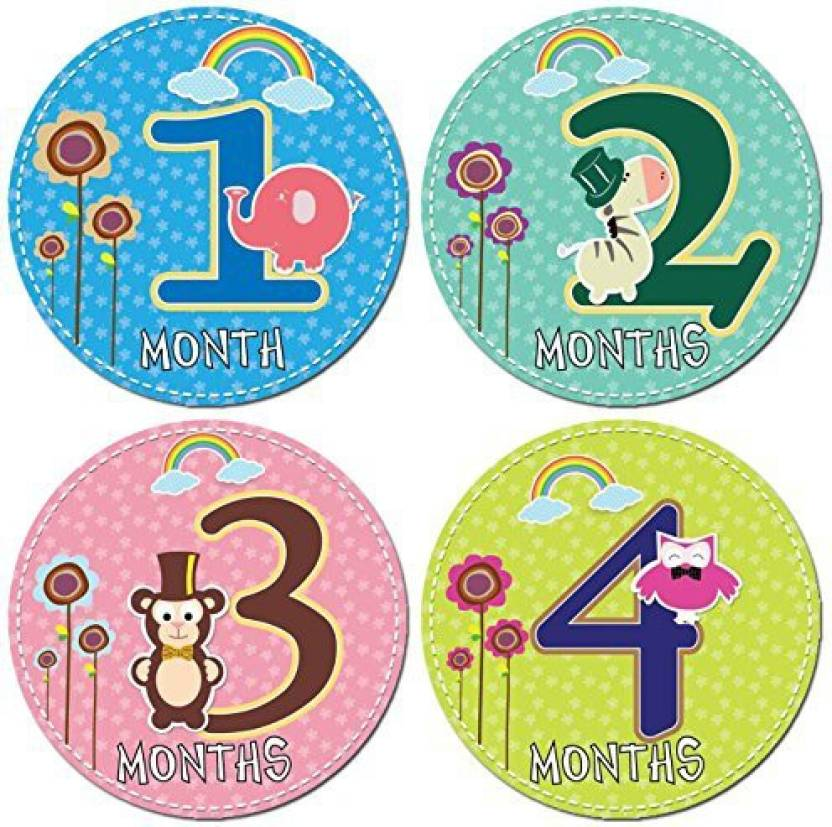 Born Beyond Sets Of 12 Baby Monthly Stickers By 2 Identical For Each Month Let You Reuse It Again And 4