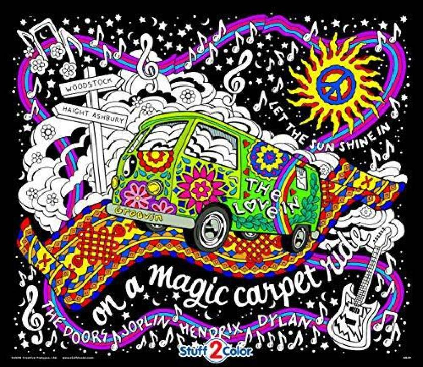 StuffColor Stuff2Color Magic Love Bus - Giant Fuzzy Velvet Coloring ...