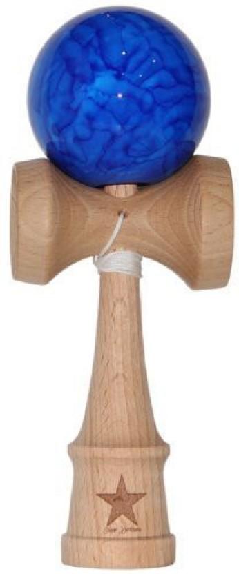 Jumbo Blue Marble Super Kendama,Super Sticky,Japanese Wooden Toy.USA
