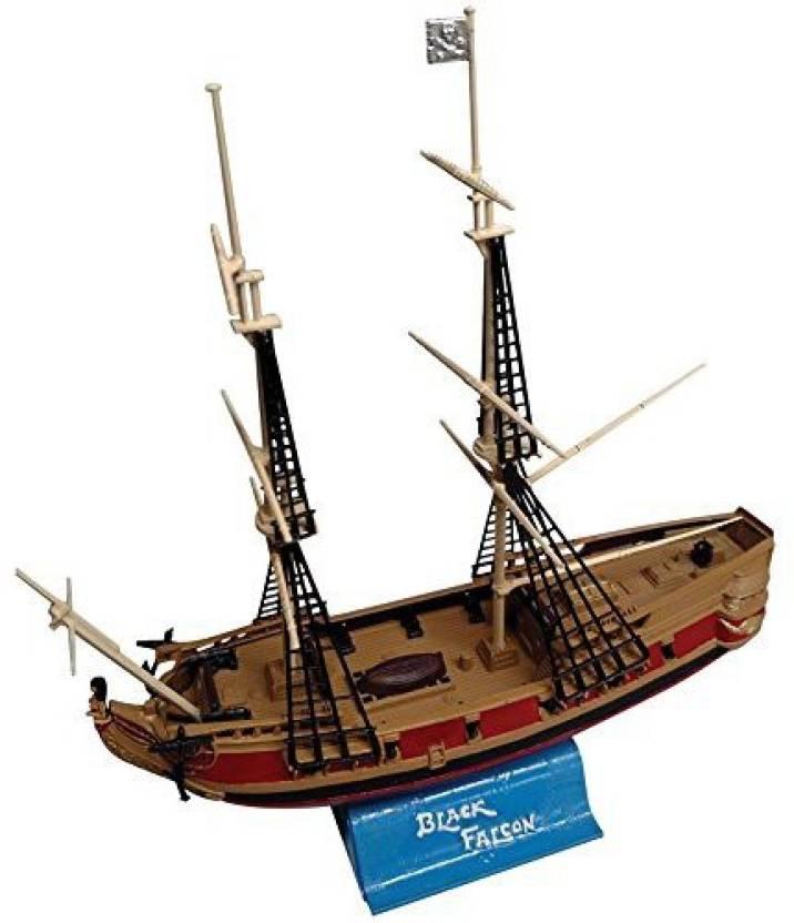 Genrc Black Falcon Pirate Ship Classic 1:100 Scale Plastic Model Kit