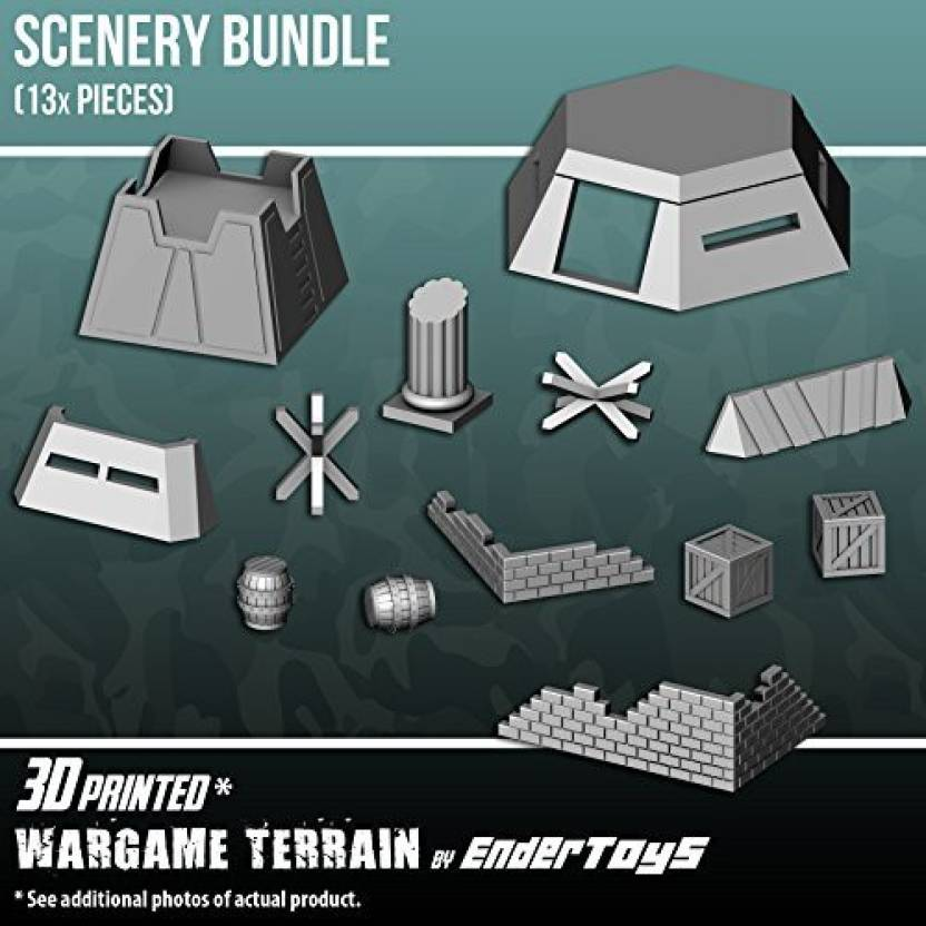 EnderToys Scenery Bundle, Terrain Scenery For Tabletop 28Mm