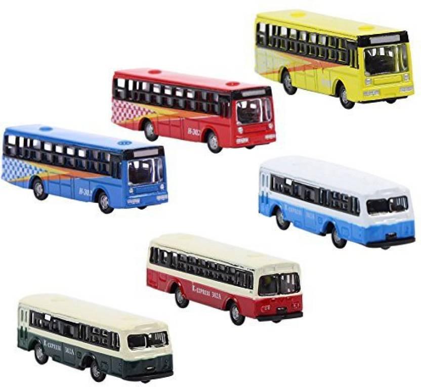 Evemodel Bs150 6Pcs Diecast Model Buses Car 1:160 N Scale
