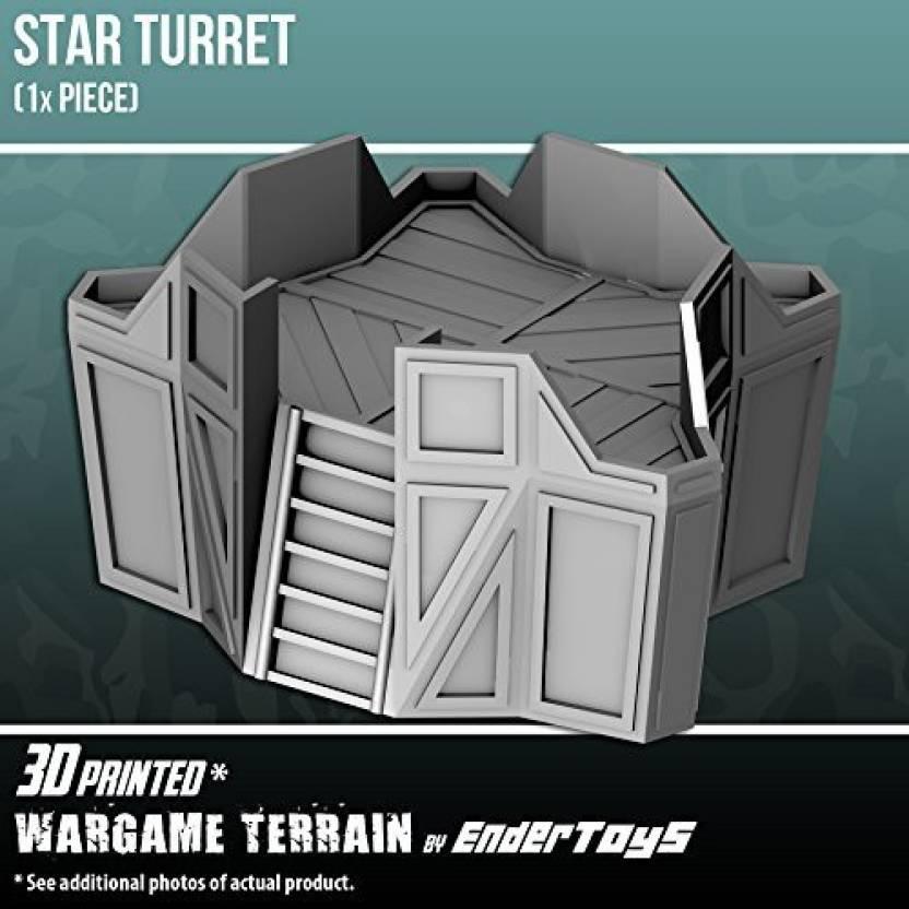 EnderToys Star Turret, Terrain Scenery For Tabletop 28Mm