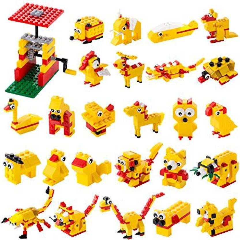 4f301b2c8218 Genrc Building Blocks Set Educational Toys Gifts For Girls And Boys  Including 244 Pcs Building Bricks For Making Turntable And 26 Anim  (Multicolor)