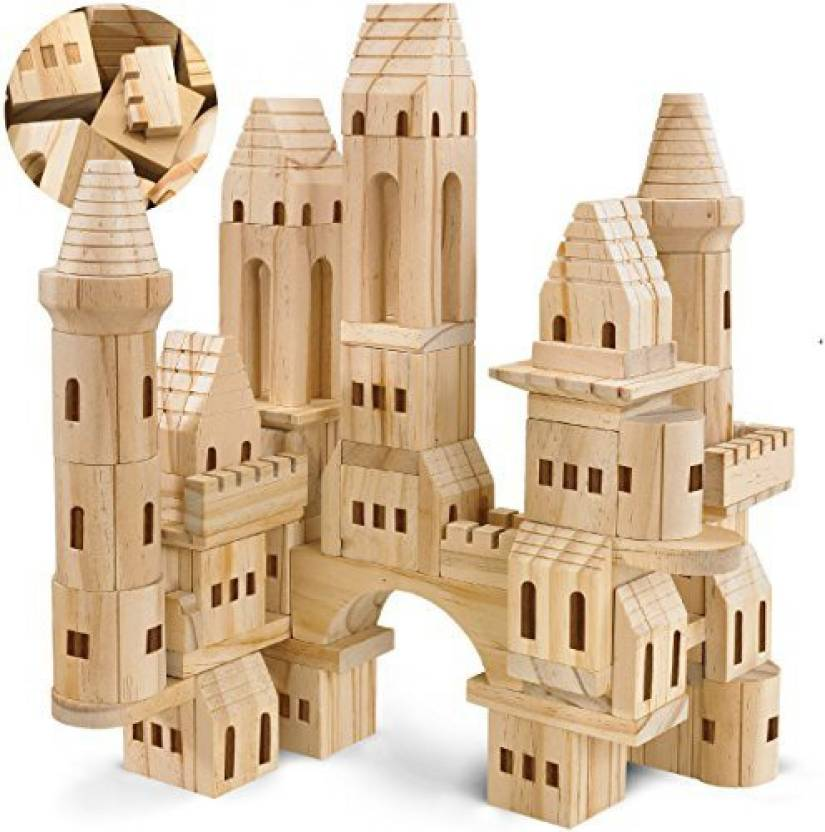 Fao Schwarz Wooden Castle Building Blocks Set Toy