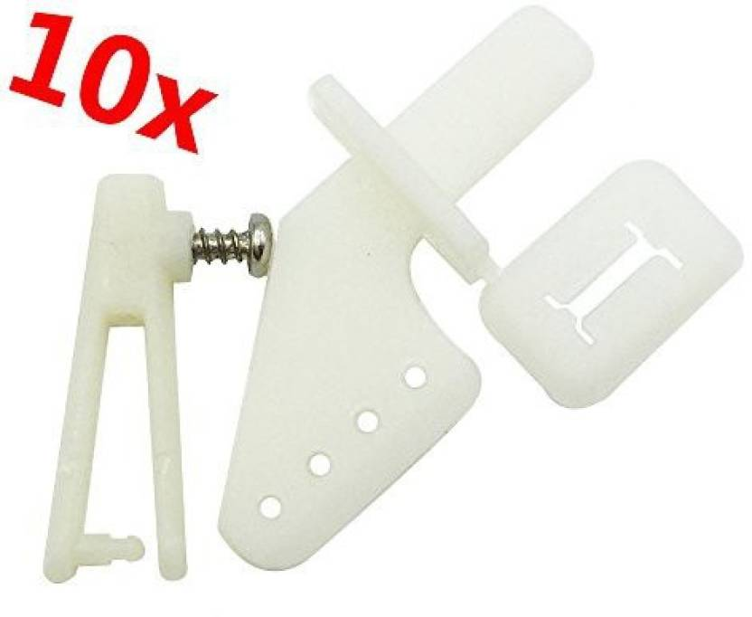 Genrc Mmei 10 Pcs White Lock On Plastic Control Horns 21X11 Mm (4