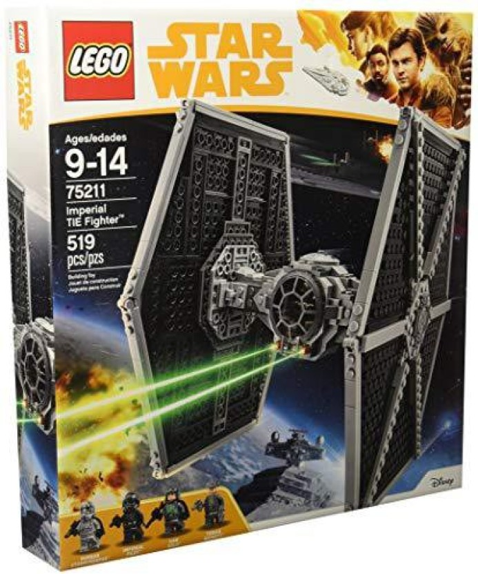 FREE SHIPPING 519 Piece LEGO Star Wars Imperial TIE Fighter 75211 Building Kit