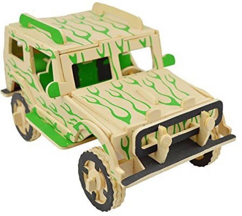 Smilelove 3D Wooden Car Puzzle-Brain Teaser Puzzles Kid'S Wooden