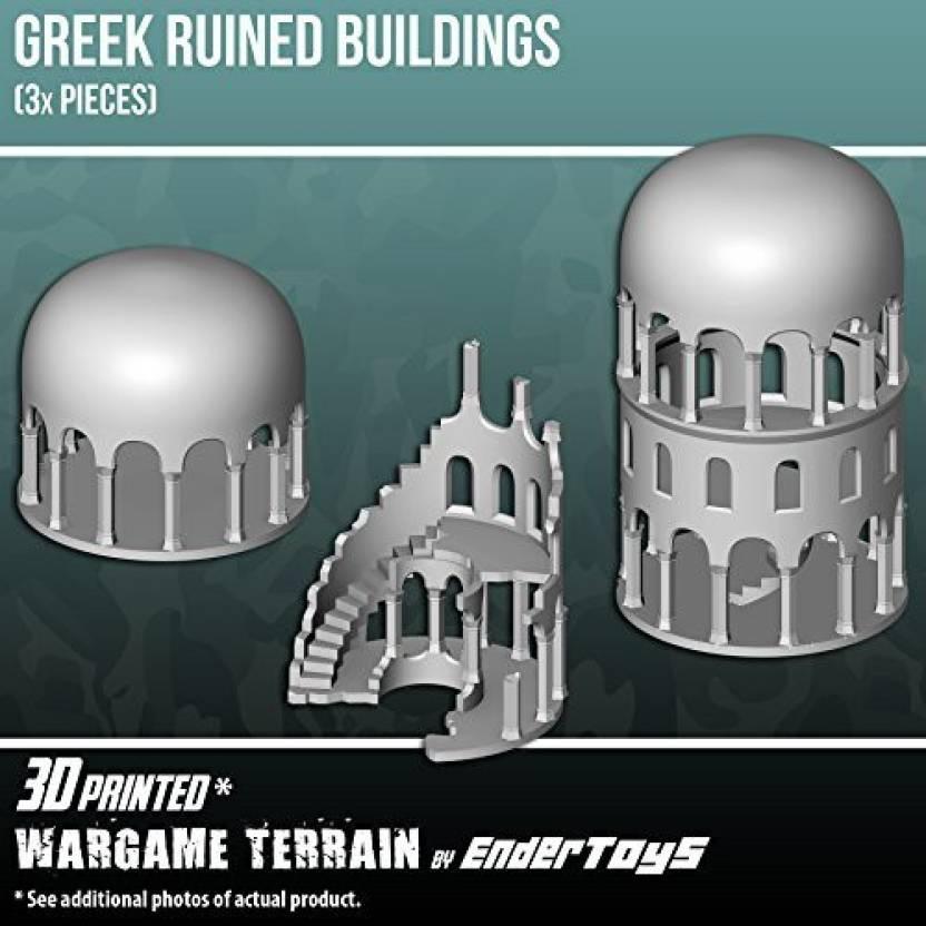 EnderToys Greek Ruined Buildings Bundle, Terrain Scenery For