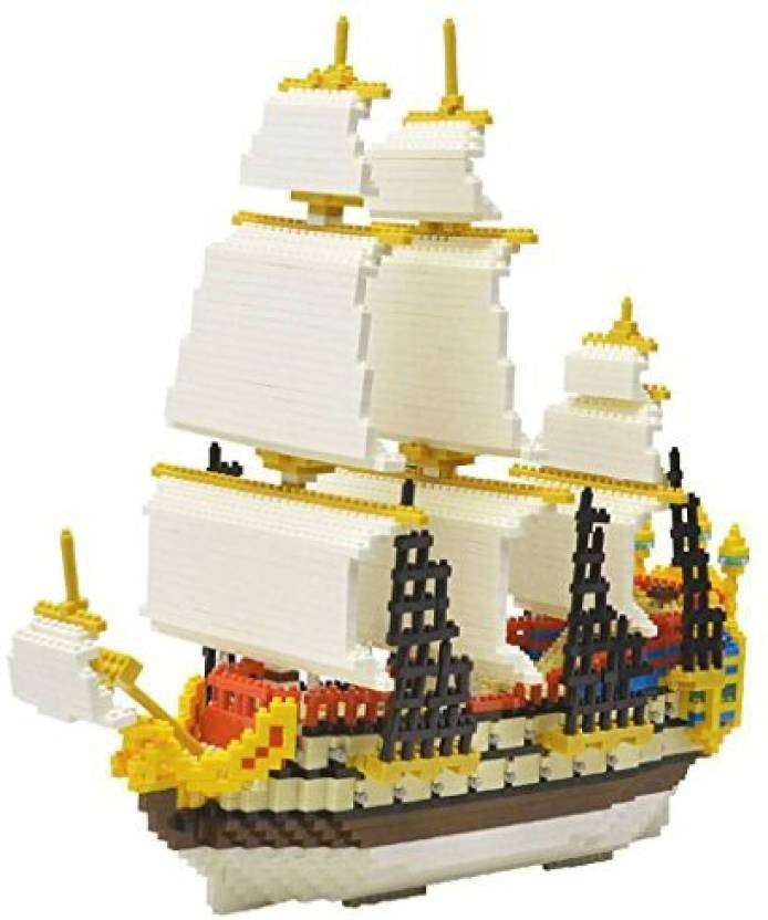 Monkeyjack 3000Pcs/Set Plastic Galleon Ship Boat Model Building