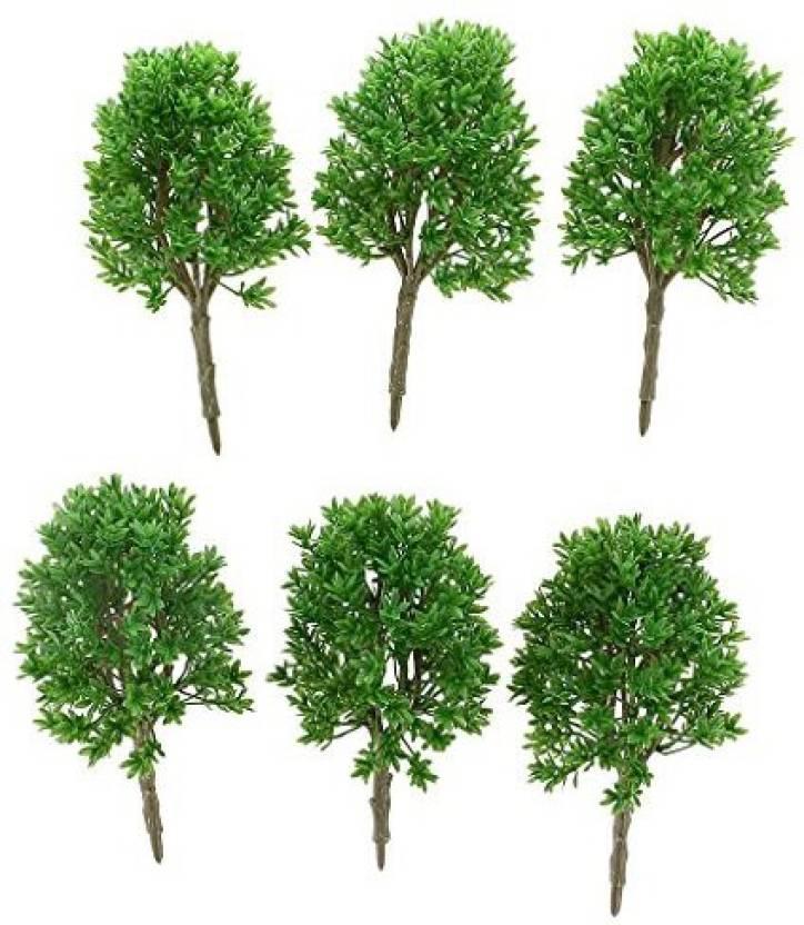 Jili Online 6 Pieces Plastic 1:50 Scale Diy Model Trees Railway
