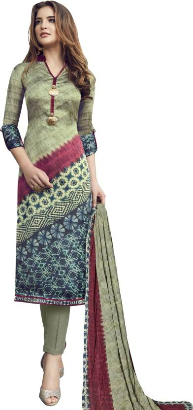 cd9e7d7550 Stylee Lifestyle Satin Printed Salwar Suit Dupatta Material (Un-stitched)