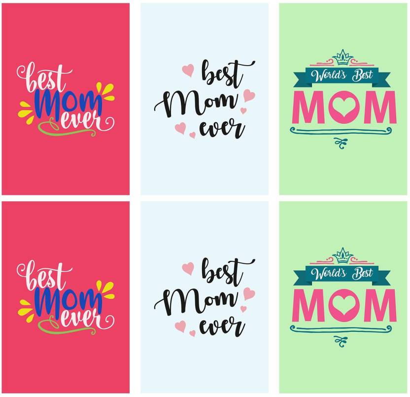 Set Of 6 Posters Rolled In A Tube With Best Mom Ever And Show Your Love