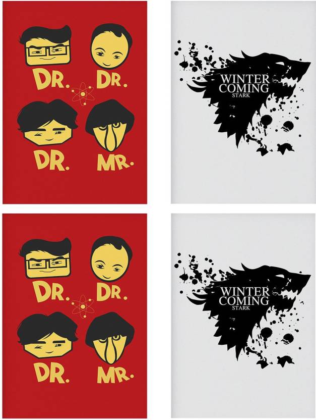 Combo Posters Set Of 4 Rolled Posters With Big Bang Theory