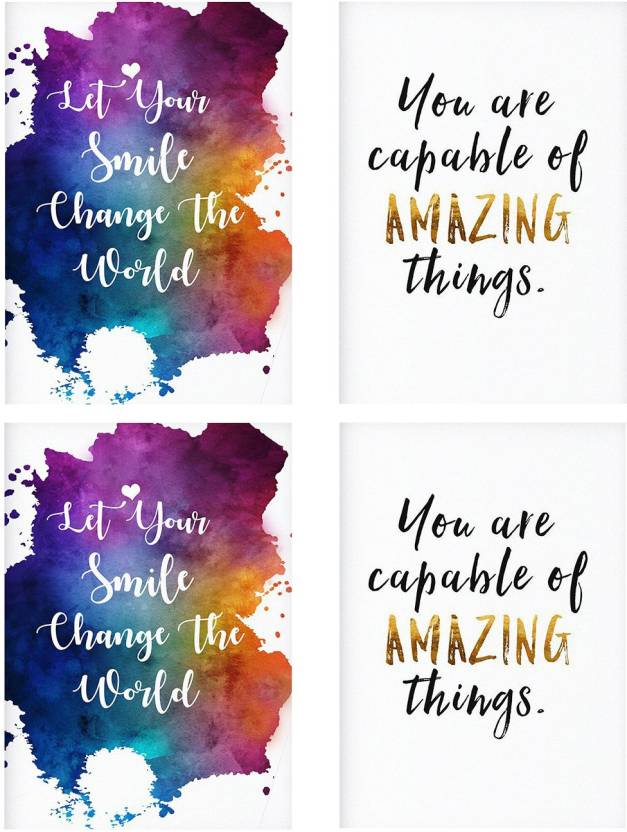 Rolled Posters With Let Your Smile Change The World Keep Smiling