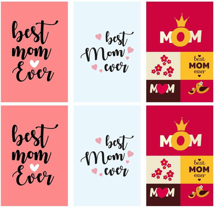 Set Of 6 Posters Rolled In A Tube With Gifts For Your Best Mom And Show Your Love To Your Mom Frames Are Not Included Home Decor And Office Designs 12 X