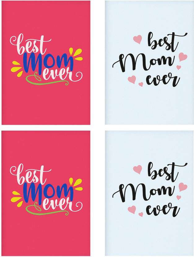 Combo Posters Set Of 4 Rolled Posters With Best Mom Ever No Frames