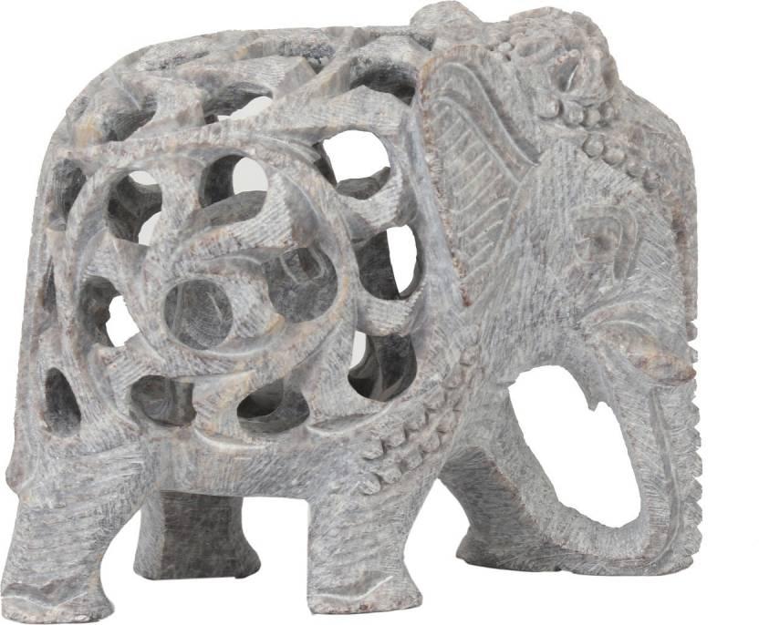 e215a42861a28 U Carry Me Hand carved stone - I LOVE ANIMALS - Lucky Mother Elephant with  baby elephant inside ...