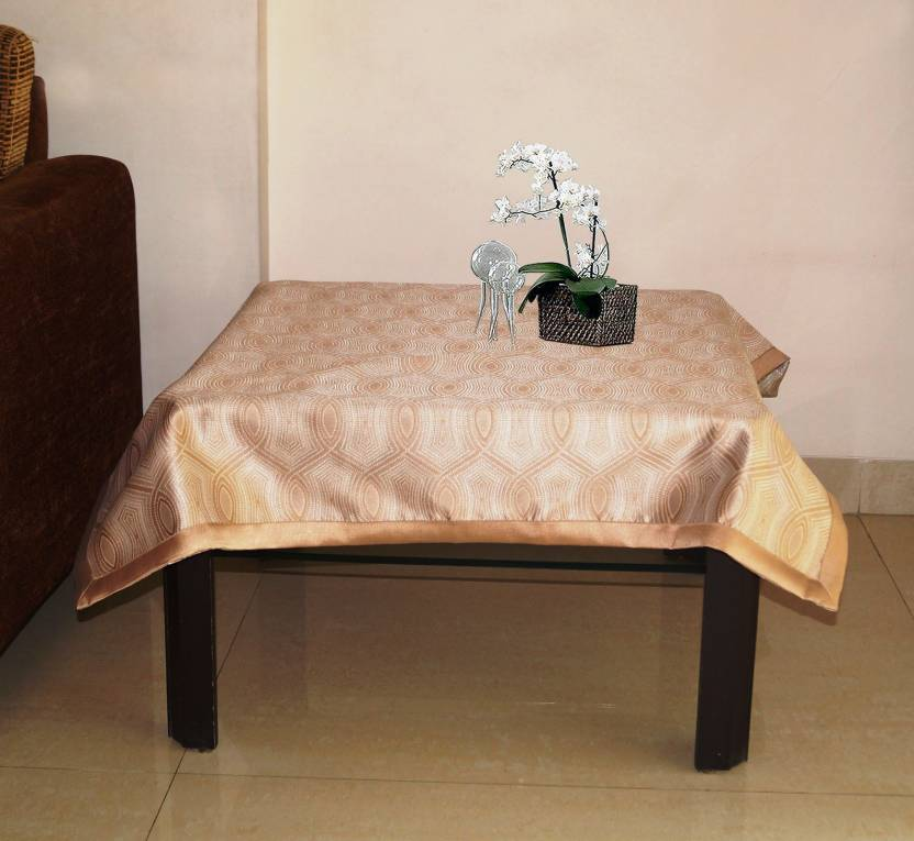 Lushomes Printed 4 Seater Table Cover Natural Polyester