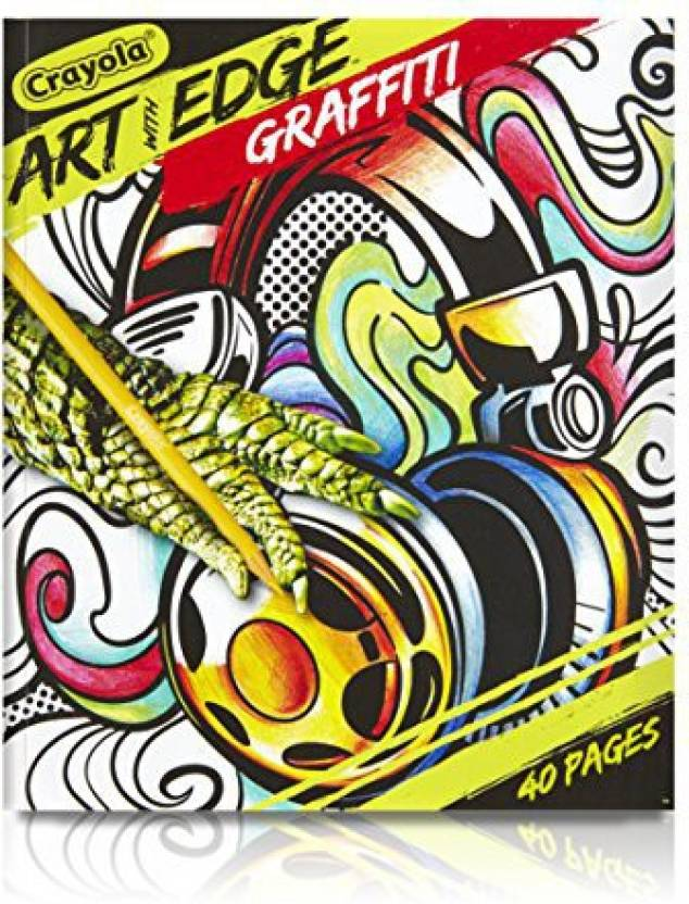 Crayola Art With Edge Graffiti Adult Coloring Book Art With Edge
