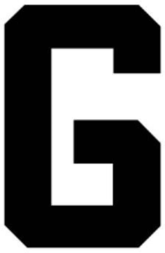 Genrc 11X14 Athletic Font-Letter G-Made from 4 Ply Matboard