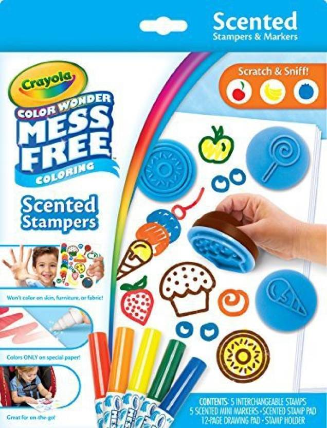 Crayola Color Wonder Scented Stampers for Kids, No Mess Markers ...