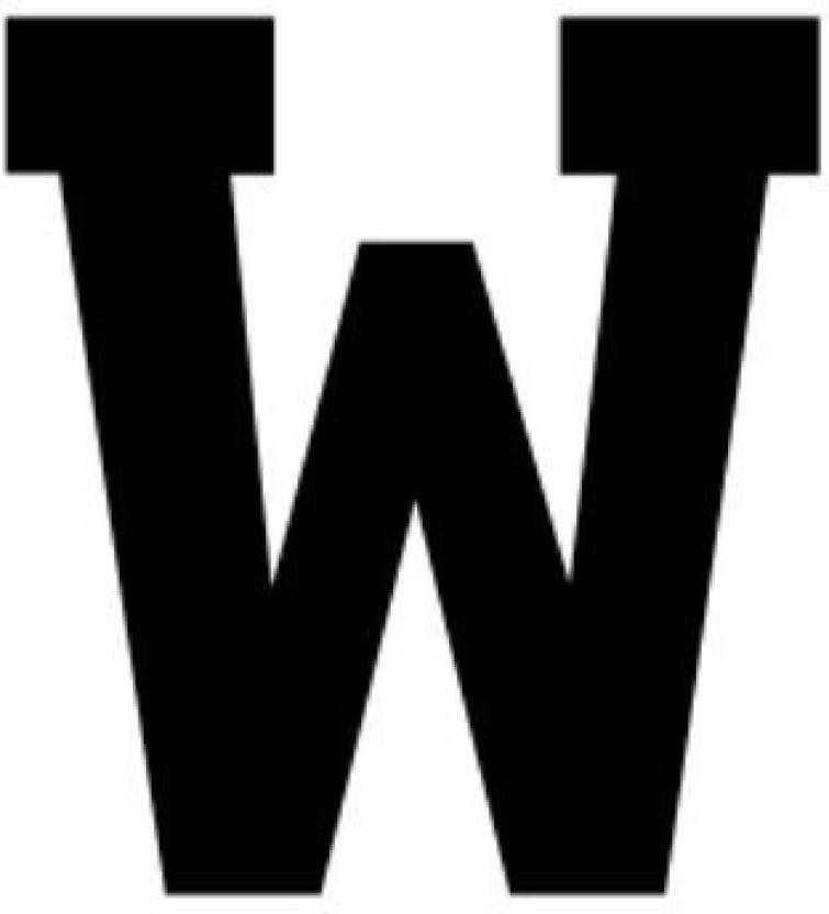 Genrc 16X20 Athletic Font-Letter W-Made from 4 Ply Matboard