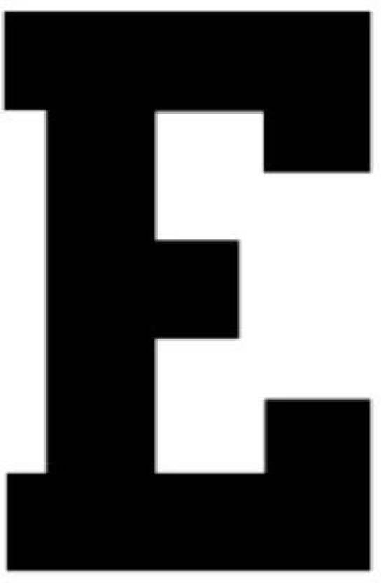 Genrc 11x14 Athletic Font Letter E Made From 4 Ply Matboard Letter E