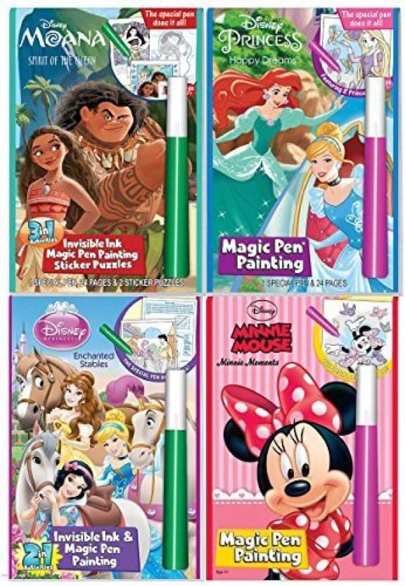 Genrc Disney Characters Magic Pen Painting Activity Books