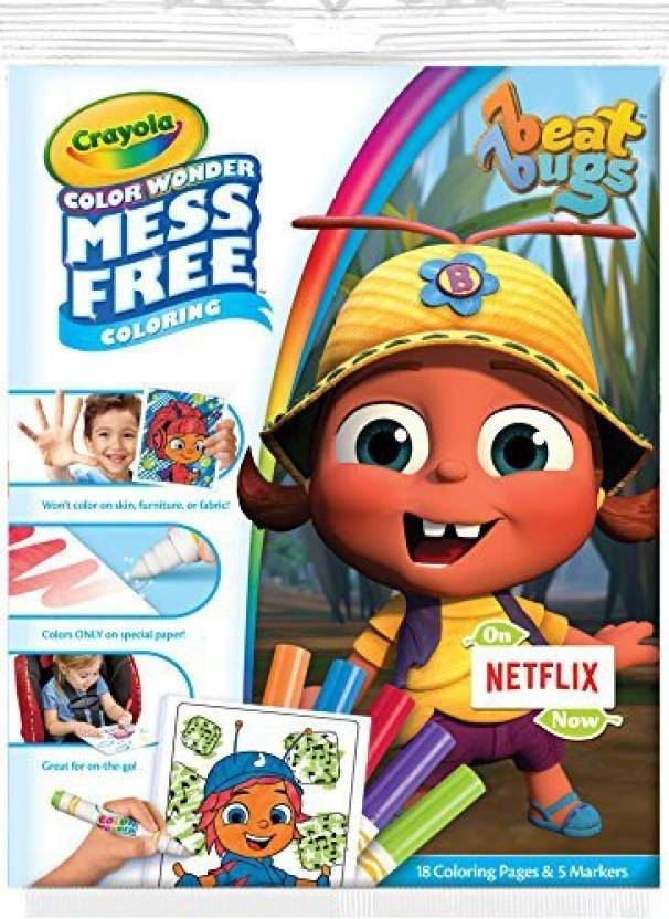 Crayola Color Wonder Pad & No Mess Markers, Beat Bugs, Gift for Kids ...