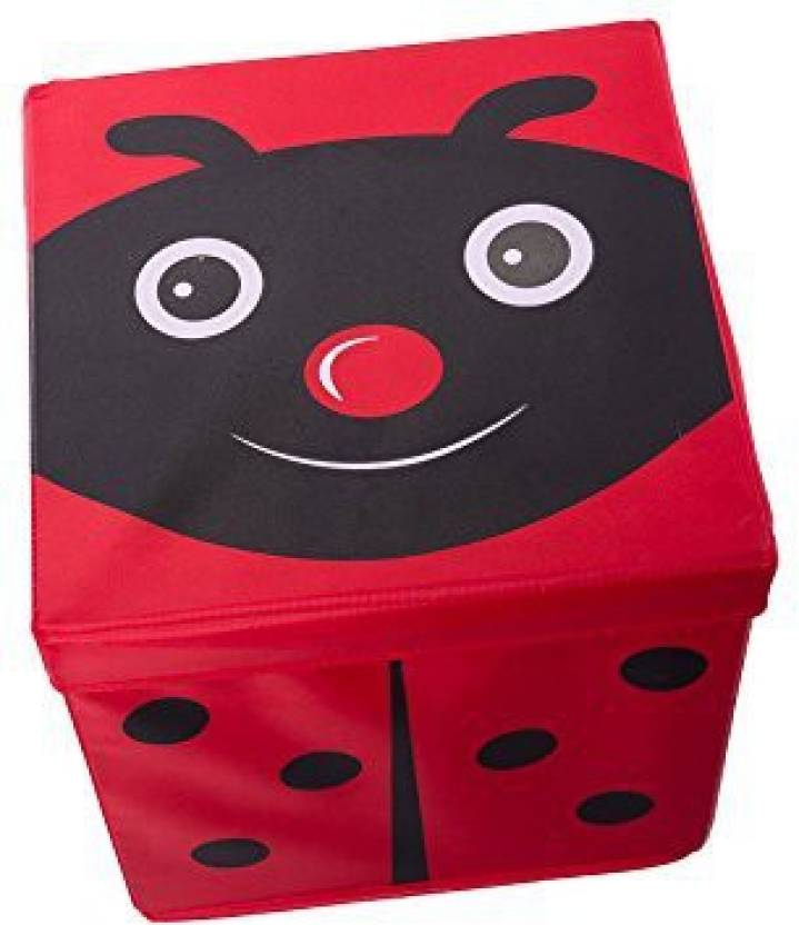 Genrc Kid S Cushion Top Ladybug Collapsible Toy Storage Organizer By